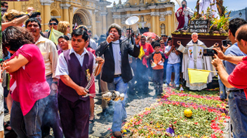 easter procession central america photograph